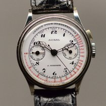 Auricoste Chronograph 33mmm Manual winding pre-owned White