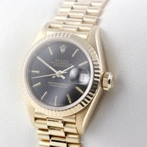 Rolex Lady-Datejust Geelgoud 26mm Zwart