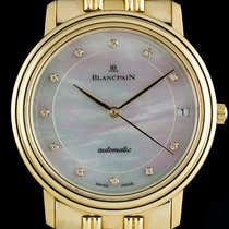 Blancpain 18k Yellow Gold MOP Diamond Dial Gents Dress Watch