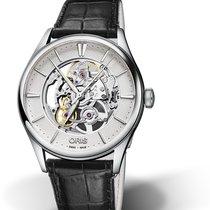 Oris CULTURA ARTELIER SKELETON Steel-Silver Dial-Black Leather