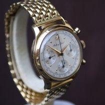 Mathey-Tissot Valjoux 72 Chronograph in 18k gold 'Singer dial'