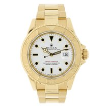 Rolex YACHT-MASTER 40mm 18K Yellow Gold  White Dial Watch 16628