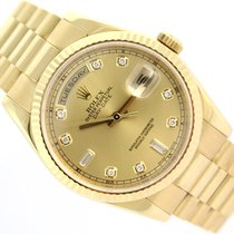 Rolex Day-Date PRESIDENT Yellow Gold Black Dial K-Series
