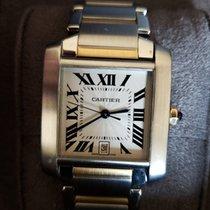 Cartier Acero Automático 28mm 2013 Tank Française