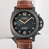 Panerai Luminor Marina 1950 3 Days Automatic Углерод 44mm Чёрный Aрабские
