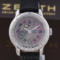 Zenith Baby Star Steel 32mm Mother of pearl Arabic numerals