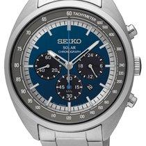 Seiko new Quartz Luminescent Hands Luminous indexes Solar watch 45mm Steel Mineral Glass