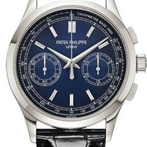 Patek Philippe Chronograph Platino 39.4mm Azul
