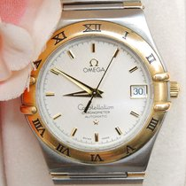Omega Constellation Goud/Staal 35mm Wit Geen cijfers