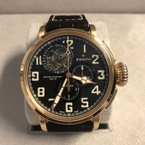 真利时  Zenith Pilot Montre d'Aeronef Type 20 Tourbillon 18k Rose