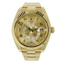 Rolex SKY-DWELLER 42mm 18K Yellow Gold Watch 326938
