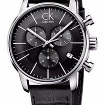ck Calvin Klein CK City Stainless Steel Analog Black Chrono...