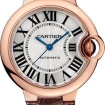 Cartier Ballon Bleu 33mm Rose gold 33mm Silver Roman numerals