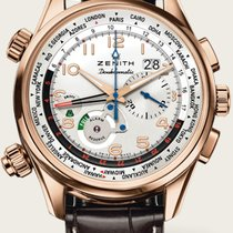 Zenith Rose gold Automatic Silver 45mm new El Primero Doublematic