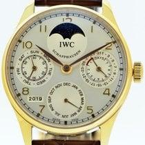 IWC Pозовое золото Автоподзавод 44mm подержанные Portuguese Perpetual Calendar