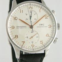 IWC Portuguese Chronograph Steel 40mm Silver Arabic numerals