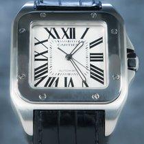 Cartier Santos 100 Stal 41.3mm Biały Rzymskie