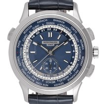 Patek Philippe World Time Chronograph White gold 39.5mm Blue United Kingdom, London