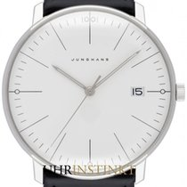Junghans max bill Quarz Stal 38mm Srebrny