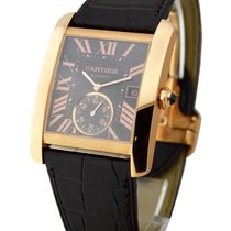Cartier W5330002 Tank MC Mechanical in Rose Gold - on Brown...
