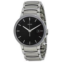 Rado Mens R30927153 Centrix Black Dial Stainless Steel Watch