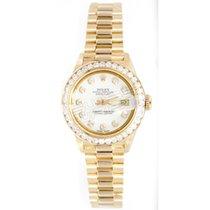 Rolex Lady-Datejust Oro amarillo 26mm Blanco