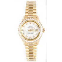 Rolex Lady-Datejust pre-owned 26mm White Date Fold clasp, hidden