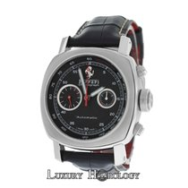 Panerai Authentic Men Ferrari F 6656 Chronograph Stainless Steel