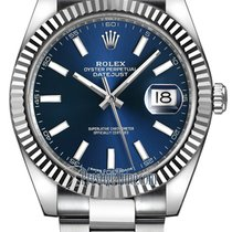 Rolex Datejust 41mm Stainless Steel 126334 Blue Index Oyster