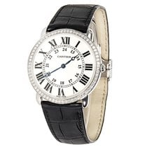 Cartier Ronde Louis WR0005 Unisex Watch in 18K White Gold...