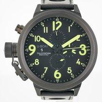 U-Boat Flightdeck 55 Cab Y, Chronograph, Mens, Black Stainless...
