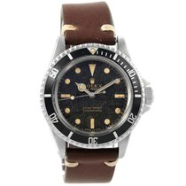 Rolex Submariner Vintage Guilt Gloss Dial Mens Watch 5513
