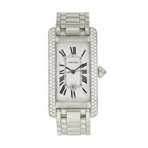 Cartier Tank Américaine pre-owned 23mm Silver White gold