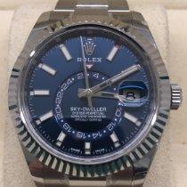 Rolex Sky-Dweller Сталь 42mm Синий Без цифр