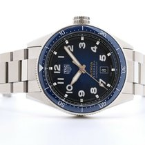 TAG Heuer Autavia Steel 42mm Blue No numerals