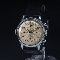 Universal Genève Compax pre-owned 38mm Silver Chronograph Leather