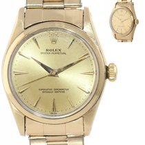 Rolex Oyster Perpetual 34 Ouro/Aço 34mm Champanhe