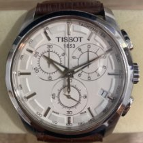 Tissot Couturier pre-owned 41mm White Chronograph Date Leather