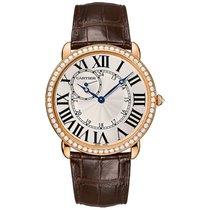 Cartier Ronde Louis Cartier 42mm Rose Gold Watch Diamond Bezel