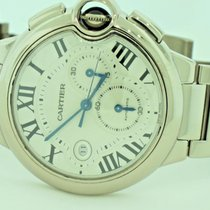 Cartier Ballon Bleu 18K White Gold Automatic Chronograph