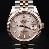 Rolex Datejust 41 Steel and Pink Gold - Fluted Bezel - Jubilee
