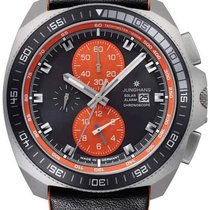 Junghans 1972 014/4200.00 JUNGHANS 1972 CHRONOSCOPE SOLAR nero arancione new
