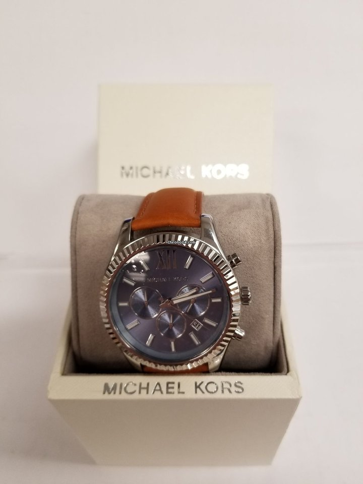484950016dc9 Michael Kors Lexington Blue Dial Men s Chronograph Watch   Mk8537 for AED  938 for sale from a Seller on Chrono24