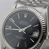 Rolex Datejust  rhodiniert / rare glossy dial / vintage / WG...