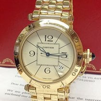 Cartier Pasha Yellow gold 38.5mm Silver Roman numerals United Kingdom, Wilmslow