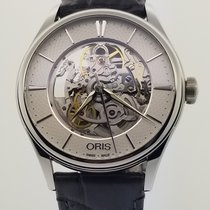 Oris Artelier Skeleton new Automatic Watch with original box and original papers 734 7721 4051-07 5 21 61FC