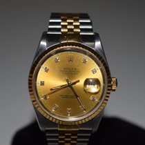 Rolex pre-owned Automatic 36mm Champagne Sapphire Glass 10 ATM