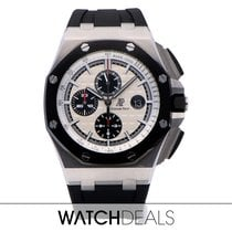 Audemars Piguet Royal Oak Offshore Chronograph occasion 44mm Argent Chronographe Date Caoutchouc