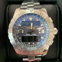 Breitling Airwolf pre-owned 44mm Grey Chronograph Date Alarm GMT Steel