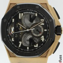 Audemars Piguet Royal Oak Offshore Tourbillon Chronograph Rose gold 44mm Black
